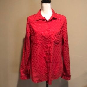 Women's Maurice's Lg long sleeve pink button down